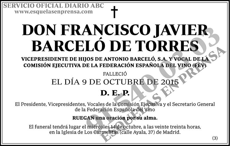 Francisco Javier Barceló de Torres